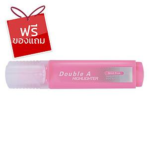 Double A ปากกาเน้นข้อความ รุ่นFlatสีชมพูพาสเทล