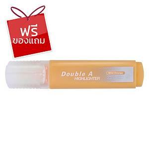 Double A ปากกาเน้นข้อความ รุ่นFlatสีส้มพาสเทล