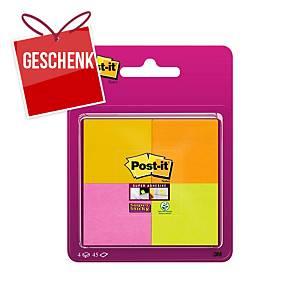 3M Post-it® Super Sticky Blöcke 47,6 x 47,6 mm, Farbenmix