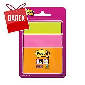3M Post-it® Super Sticky bločky, mix velikostí, bal. 3 bločků/45 lístků