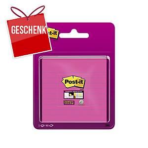 3M Post-it® Super Sticky Blöcke 101 x 101 mm, liniert, fuchsia
