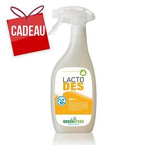Spray désinf. à base d acide lactique Lacto Des, 500ml, entièrement biodégrad.