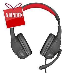 Trust GXT 307 Ravu mikrofonos fejhallgató, 3,5 mm jack csatlakozóval