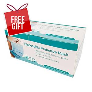 Disposable Protective Mask 3Ply - Box of 50