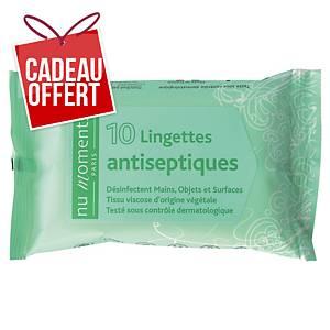 Lingette antiseptique désinfectante mains - paquet de 10