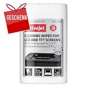 Activejet LCD- und TFT-Bildschirmreinigungstücher, Packung mit 100 Stück