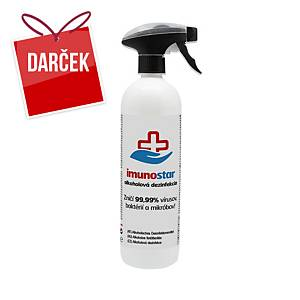 Tekutá dezinfekcia Imunostar na ruky a povrchy s alkoholom, rozprašovač, 750 ml
