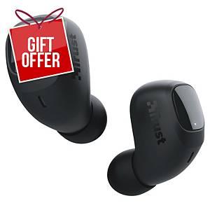 Trust 23555 Nika Compact Bluetooth Wireless Earphones - Black