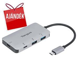 Targus USB-C elosztó, 4 port, USB-A + USB-C