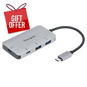 Targus USB-C Multi-Port Hub with 2x USB-A and 2x USB-C Ports