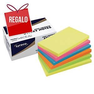Pack de 6 blocks de 90 notas adhesivas Lyreco Premium - summer - 75 x 127 mm