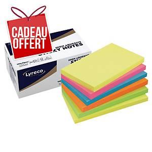 Notes repositionnables Lyreco Premium - 75 x 125 mm - summer - 6 x 90 feuilles