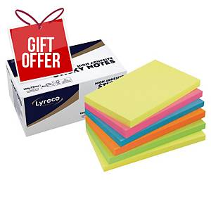Lyreco Premium Sticky Notes 75x125mm Summer Colour - Pack of 6