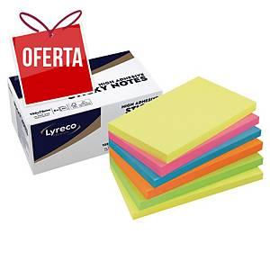 Pack de 6 blocos de 90 notas adesivas Lyreco Premium - summer - 75 x 127 mm
