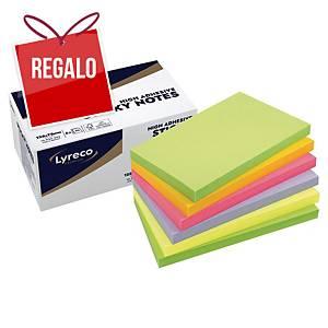 Pack de 6 blocks de 90 notas adhesivas Lyreco Premium - spring - 75 x 127 mm