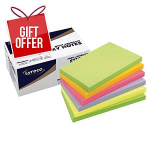 Lyreco Premium Sticky Notes 75x125mm Spring Colour - Pack of 6
