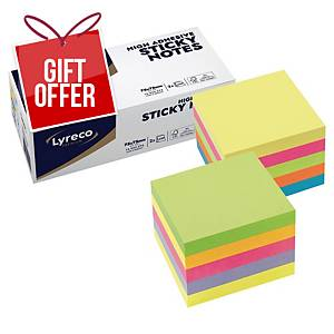 Lyreco Premium Sticky Cube 75x75 Summer and Spring - Pack of 2