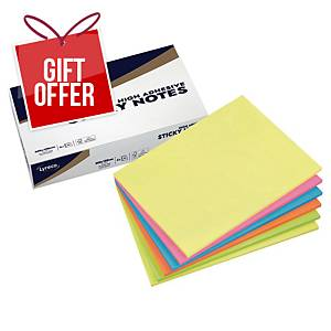 Lyreco Premium Sticky Notes 200x150mm Summer Colour - Pack of 6