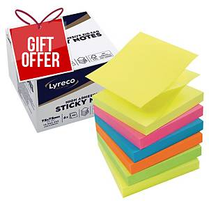 Lyreco Premium ZigZag Sticky Notes 75x75 Summer Colour - Pack of 6