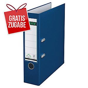 Ordner Leitz 1010, PP-kaschiert, A4, Rückenbreite: 80mm, blau