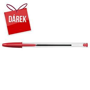 Pero Bic Cristal, neklikací kuličkové, 1,0 mm, červené