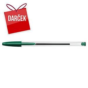 Guľôčkové pero Bic Cristal, neklikacie, zelené