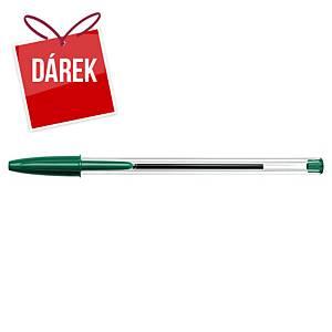 Pero Bic Cristal, neklikací kuličkové, 1,0 mm, zelené