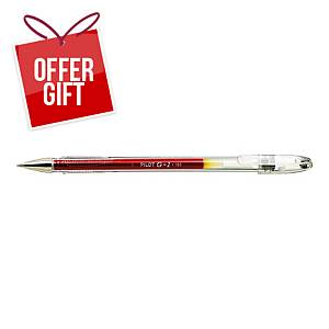 PILOT G1 B/POINT PEN METAL RED