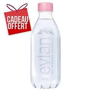 Eau Evian Nude 40 cl - 100% recyclée - plateau de 24 bouteilles