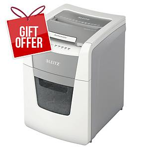 Leitz IQ Autofeed  Small Office 100 Automatic Paper Shredder P5 White