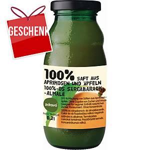 Zdravo natürlicher 100% Saft, Marille - Apfel, 0,2 l, Packung mit 10 Stück