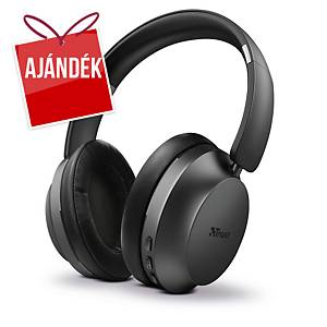 Trust Eaze vezeték nélküli fülhallgató, Bluetooth, fekete