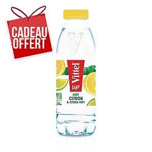 Eau Vittel Up citron/citron vert 50 cl - plateau de 24 bouteilles