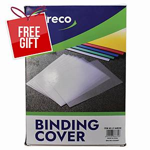 Usign - 0.2MM Binding Cover A4 Transparent - Pack of 100