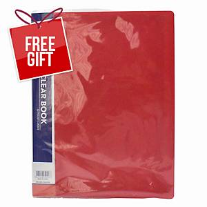 Usign Display Book 20 Pages A4 Red