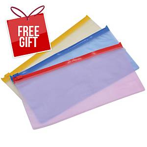 Usign PVC Zipper Bag B6 Assorted Zip Colours