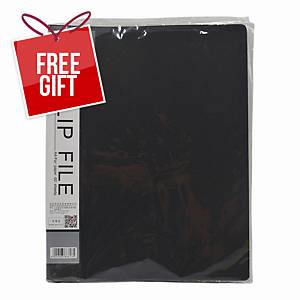 Usign 301A PP Clip File A4 - Black