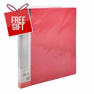 Usign 1012/2R RIng Clip File A4 Red