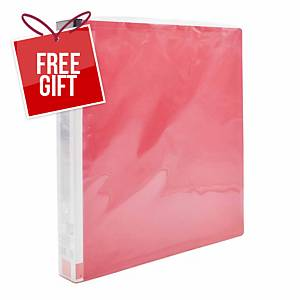 Usign 812/2R RIng Clip File A4 Red