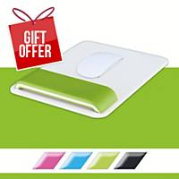 Leitz Ergo WOW Mouse Pad with Adjustable Wrist Rest Green