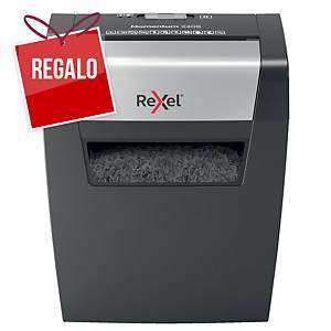 Destructora Momentum X406 - Rexel - Negro/plata