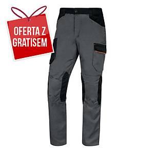 Spodnie DELTA PLUS MACH2 V3, szaro-pomarańczowe, rozmiar 2XL