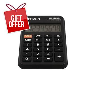 Citizen LC-110NR pocket calculator, 8-digit display