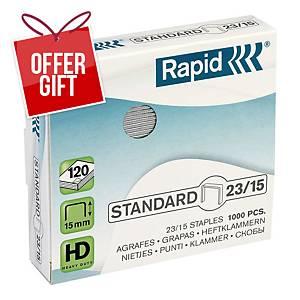 Rapid No.23/14 Staples - Box Of 1000