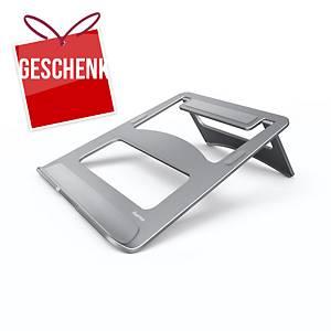 Hama Aluminium zusammenklappbarer Laptopständer, max. 15,4