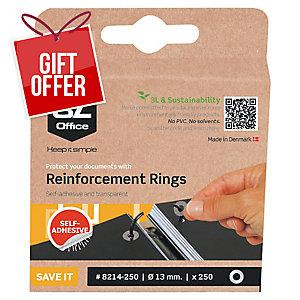 3L CLEAR REINFORCEMENT RINGS 6MM DIAMETER - BOX OF 500
