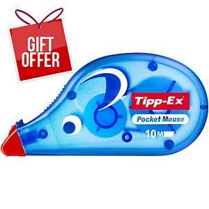 Tipp-Ex pocket mouse correction roller - 4.2 mm X 9 m film
