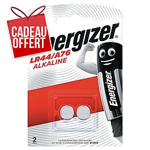Pack 2 piles boutons alcaline Energizer LR44/A76 1,5V
