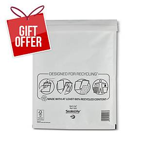 Mail Lite White Bubble Lined Postal Bags G/4 240 X 330mm - Box of 50