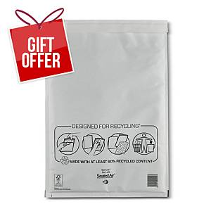Mail Lite White Bubble Lined Postal Bags J/6 300 X 440mm - Box of 50